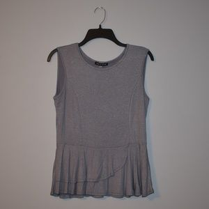 Grey Sparkle Stretch Jersey Peplum Top